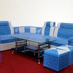 Thanh lý bộ bàn ghế sofa góc màu xanh cốm