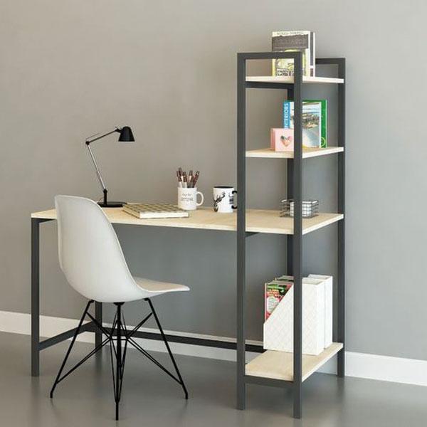 Kệ trang trí đẹp giá rẻ gắn liền với bàn làm việc, thiết kế tiện dụng và thông minh