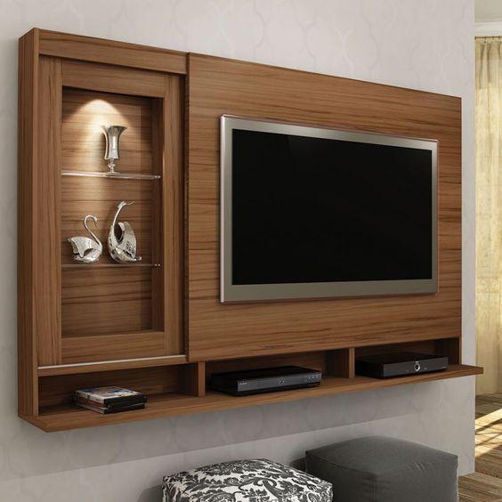 Kệ trang trí tivi gồm ô để tivi rất tiết kiệm không gian