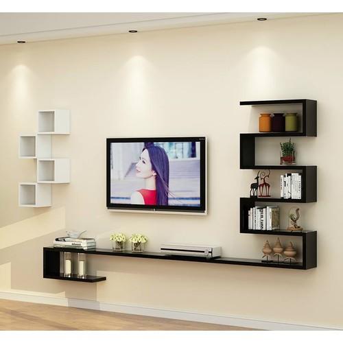 Kệ trang trí tivi giúp làm sáng hơn không gian phòng khách