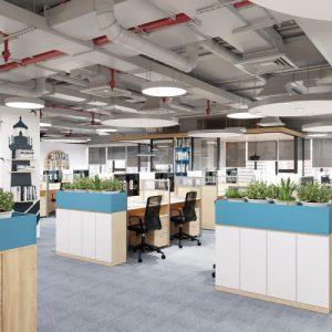 Trang trí nội thất văn phòng năng động và tiện nghi