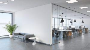 Thiết kế nội thất văn phòng mở, hiện đại
